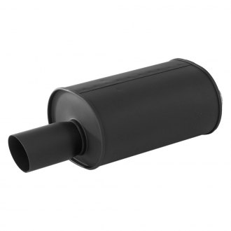 APEXi® - NOIR 304 SS Oval Exhaust Muffler with Round Single Wall Angle Cut Tip