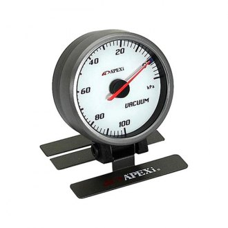 APEXi® - ELII System Meters Mechanical Vacuum Gauge, White Face with Silver Bezel