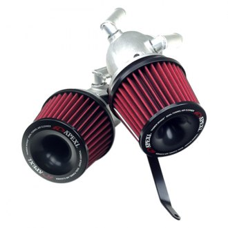 APEXi® - Power Metal Polished Short Ram Air Intake System with Red Filter