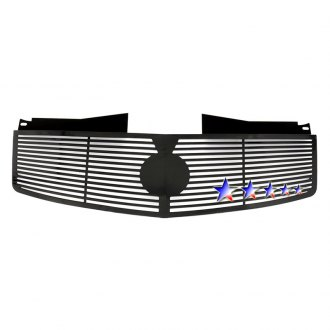 APG® - 1-Pc Black Horizontal Machined Perimeter Grille