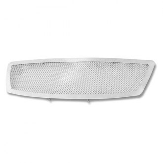 APG® - 1-Pc Plain Weave Style Chrome Wire Mesh Main Grille
