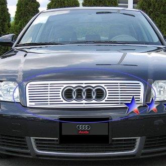 Audi A Custom Grilles Billet Mesh LED Chrome Black - 2002 audi a4