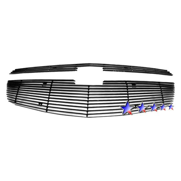 APG® - 2-Pc Black Powder Coated Horizontal Billet Main Grille