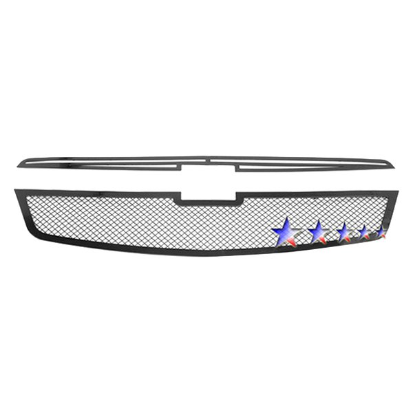 APG® - 2-Pc Black Powder Coated 1.8mm Wire Mesh Main Grille