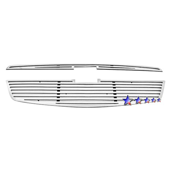 APG® - 2-Pc Perimeter Polished Horizontal CNC Machined Main Grille