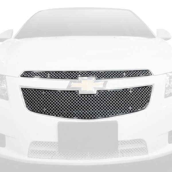 APG® - 2-Pc Chrome 2.5mm Wire X Mesh Main Grille