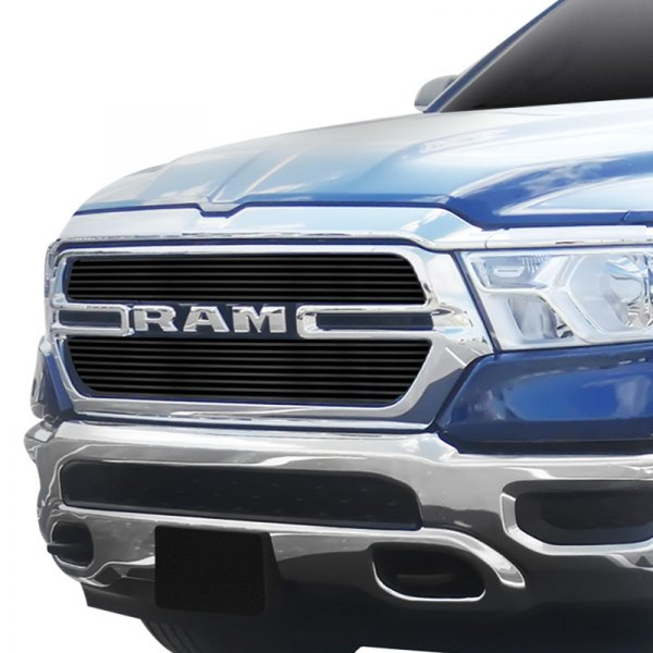 apg dodge ram 1500 new generation tradesman 2020 2 pc black horizontal billet main grille apg 2 pc black horizontal billet main grille