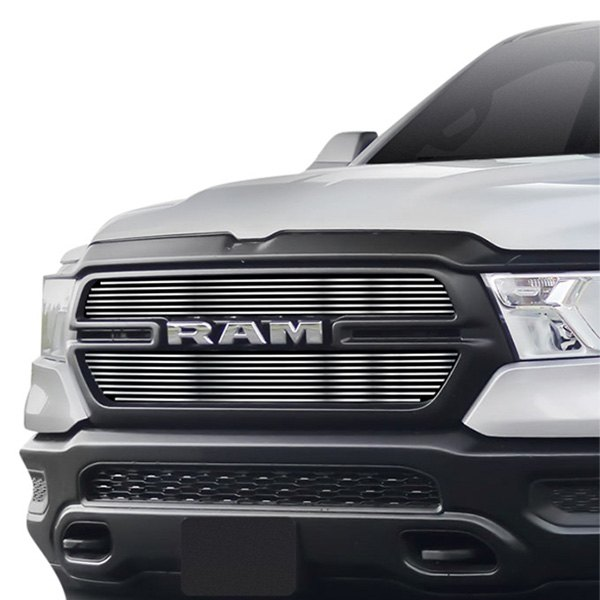 apg dodge ram 1500 new generation tradesman 2019 2 pc polished horizontal billet main grille apg 2 pc polished horizontal billet main grille