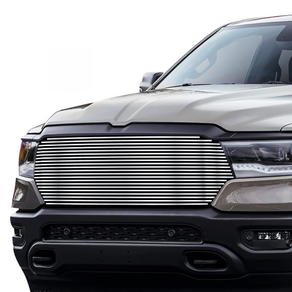 apg dodge ram 1500 new generation big horn laramie lone star tradesman 2020 1 pc chrome polished horizontal billet main grille apg 1 pc chrome polished horizontal billet main grille