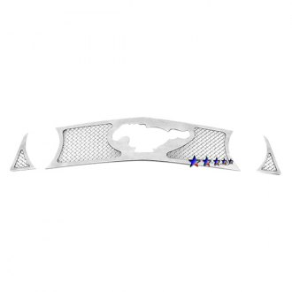 APG® - 3-Pc Chrome 1.8mm Wire Mesh Main Grille