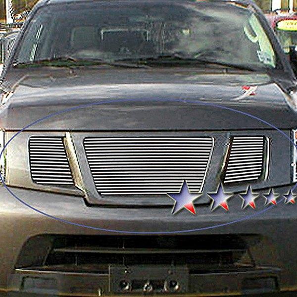 Apg Nissan Armada 2008 2009 3 Pc Polished Horizontal Billet Grille