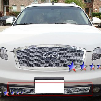 APG® - 1-Pc Plain Weave Style Chrome 1.8mm Wire Mesh Bumper Grille
