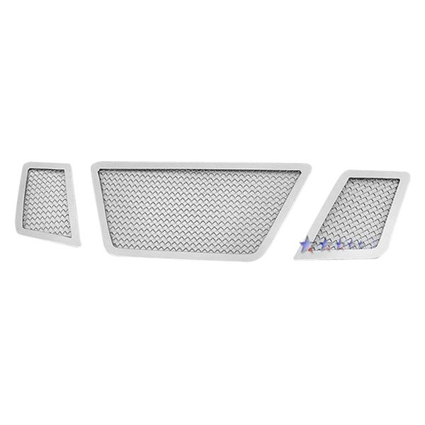 APG® GR14GFE05T - 3-Pc Chrome 1.8mm Wire Mesh Main Grille