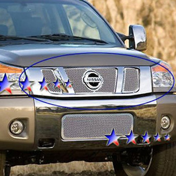 apg frontier nissan grille mesh chrome wire pc 8mm polished grilles carid custom grill