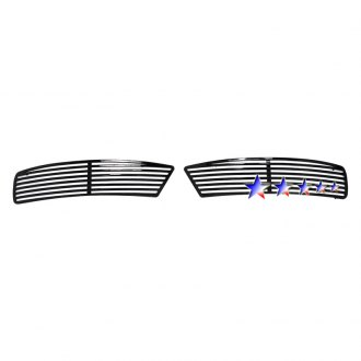 APG® - 2-Pc Perimeter Black Horizontal CNC Machined Bumper Grille