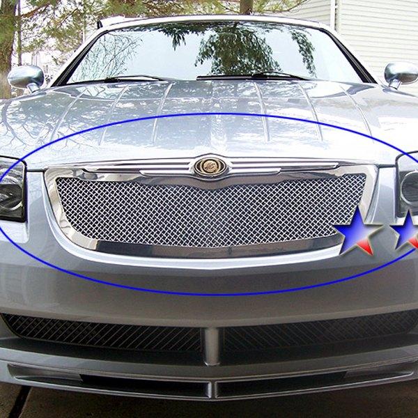 Fits 2004 2008 Chrysler Crossfire Billet Grille Grill: Chrysler Crossfire 2004-2008 1-Pc Chrome 1.8mm Wire