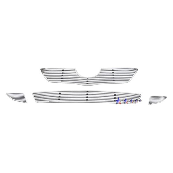 APG® - 4-Pc Perimeter Polished Horizontal CNC Machined Main and Bumper Grille Kit