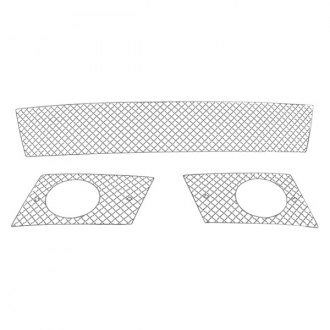 APG® - 3-Pc Chrome 2.5mm Wire X Mesh Bumper Grille