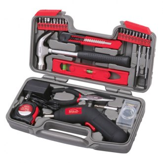 Apollo Tools® - 69 Pcs. Household Tool Kit with 4.8 V Cordless Screwdriver