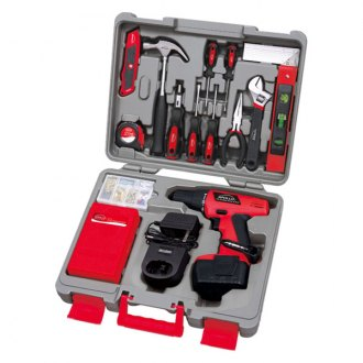 Apollo Tools® - 155 Piece Household Tool Kit With 12 V Cordless Drill