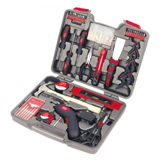 Apollo Tools® - 144 Pcs. Household Tool Kit with 4.8V Cordless Screwdriver