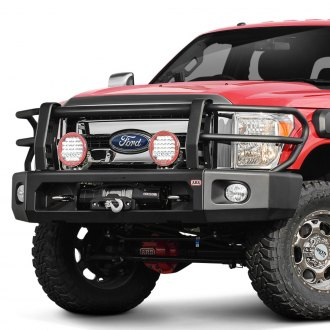 ARB® - Deluxe Full Width Black Front Winch Modular Bumper Kit with Grille Guard