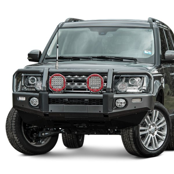 Winch Bumper With Led Lights By Rovers North For Discovery: Summit Full Width Front Winch HD Bumper