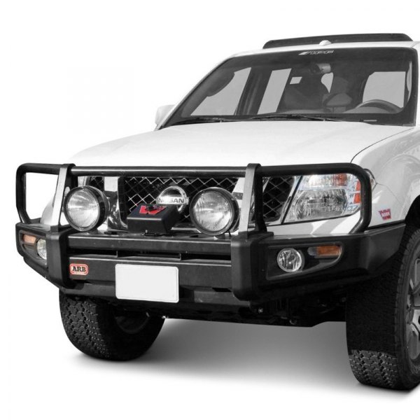 2008 Nissan Pathfinder Off Road >> ARB® - Nissan Frontier 2005-2008 Deluxe Full Width Black Front Winch HD Bumper with Grille Guard