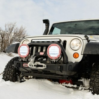 ARB® - Stubby Black Front Winch HD Bumper with Hoop