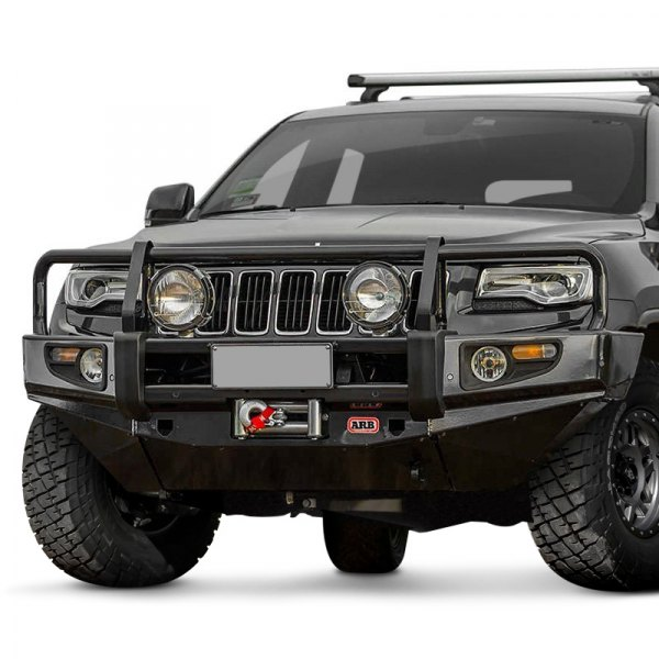 arb jeep grand cherokee 2015 deluxe full width front winch hd bumper with grille guard. Black Bedroom Furniture Sets. Home Design Ideas