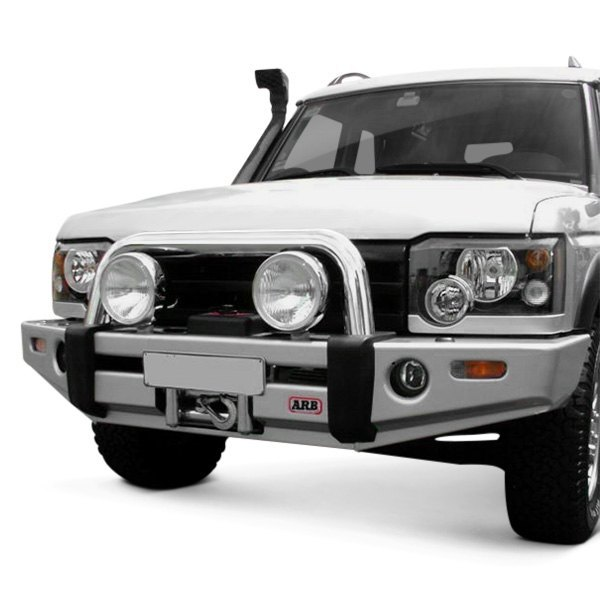 Front Winch Bumper Land Rover Discovery I Bluelakeoffroad: Sahara Full Width Raw Front Winch HD Bumper