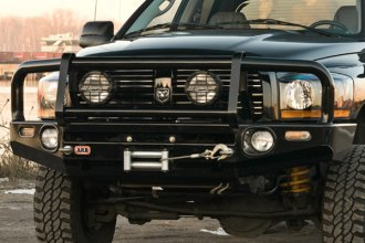Image may not reflect your exact vehicle! ARB® - Deluxe Bar Front Bumper on Dodge Ram