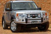 Image may not reflect your exact vehicle! ARB® - Deluxe Bar Front Bumper on Land Rover Discovery