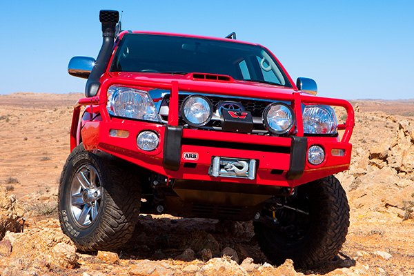 Image may not reflect your exact vehicle! ARB® - Deluxe Bar Front Bumper on Toyota Tacoma