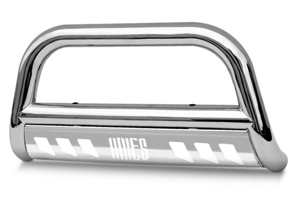 "Aries® - 3"" Stainless Steel Bull Bar with Stainless Skid Plate"
