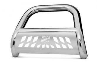 "Aries® - 4"" Big Horn Bull Bar with Stainless Skid Plate"