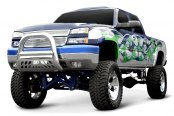 "Aries® - 4"" Big Horn Stainless Steel Bull BarChevy Silverado"