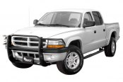 Aries® - One Piece Black Powdercoated Grille GuardDodge Dakota
