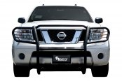 Image may not reflect your exact vehicle! Aries® - Black 1-Piece Design Grille Guard Installed