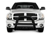 "Image may not reflect your exact vehicle! Aries® - 4"" Alumalite Big Horn Bull Bar with Stainless Skid Plate"