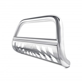 "Aries® - 4"" Big Horn Bull Bar with Brushed Skid Plate"