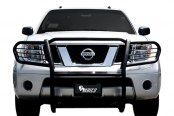 Aries® - One Piece Black Powdercoat Grille Guard - Installed