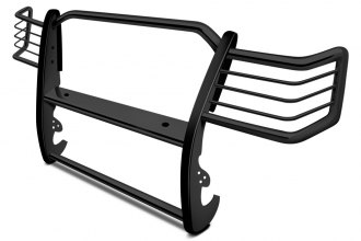 Image may not reflect your exact vehicle! Aries® - Black 1-Piece Design Grille Guard