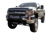 "Aries® - 3"" Black Powdercoated Bull BarChevy Silverado"