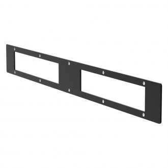 "Aries® - 10"" Black Two Open Face Cover Plate For Pro Series Grille Guard"