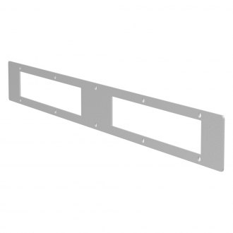 "Aries® - 10"" Brushed Two Open Face Cover Plate For Pro Series Grille Guard"