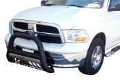 "Aries® - 4"" Big Horn Textured Black Bull BarDodge Ram"