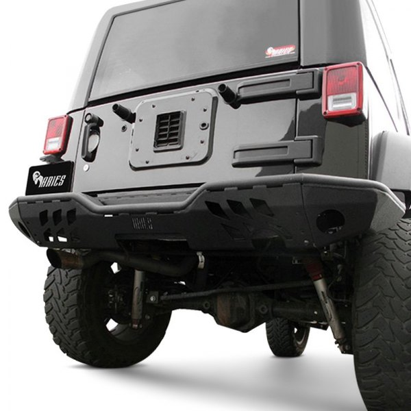 Aries® - Full Width Rear Modular Black Bumper Kit