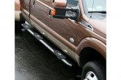 Image may not reflect your exact vehicle! Aries® - Wheel-to-Wheel Black Oval Side Bars - Installed