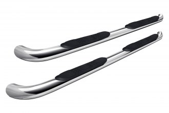 "Image may not reflect your exact vehicle!Aries® - 3"" Polished Round Side Bars"